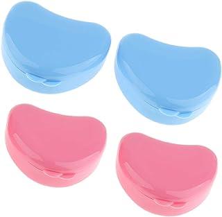 Fenteer 4個 義歯収納容器 入れ歯収納 義歯ケース リテーナーボックス プラスチック 旅行用 携帯用