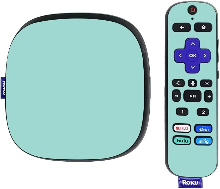 MightySkins Skin Compatible with Roku Ultra HDR 4K Streaming Media Player (2020) - Solid Seafoam | Protective, Durable, and Unique Vinyl Decal wrap Cover | Easy to Apply | Made in The USA