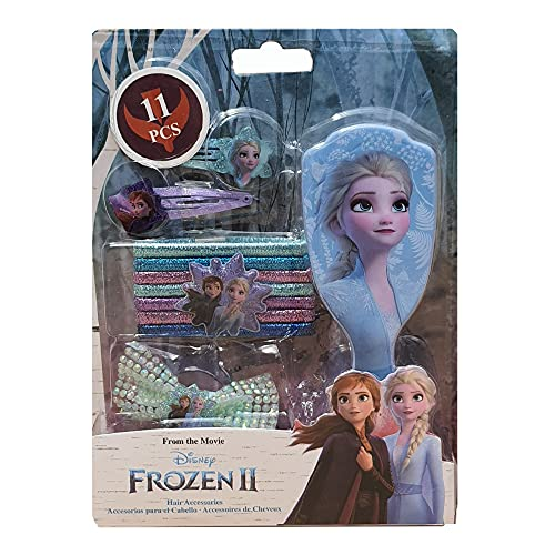 Set 11 accesorios pelo con cepillo de Frozen 2