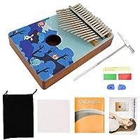 Rakuby1 カリンバ 17キー 親指ピアノ Kalimba ポータブル 木製 愛好家/初心者/学生 楽器 ギフト type-2