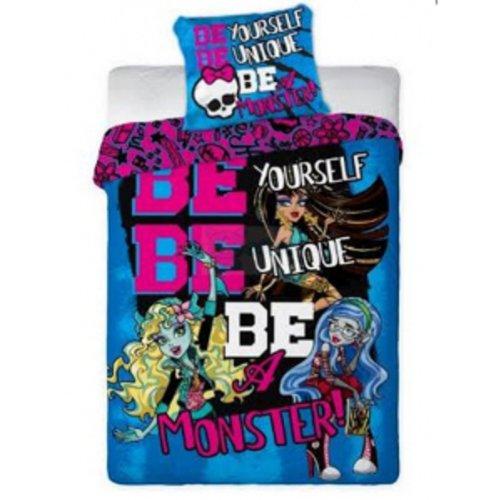 Monster High juego de funda de edredón de funda de edredón 160 x 200 cm, funda de almohada 70 x 80 cm | 100% algodón