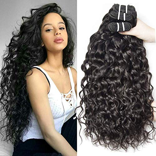 Yavida Human Hair 9A Capelli Brasiliani Naturali Extension Capelli Umani Ricci Extension Capelli Veri Tessitura Onda D'acqua 3 Bundles 16 18 20 Pollice