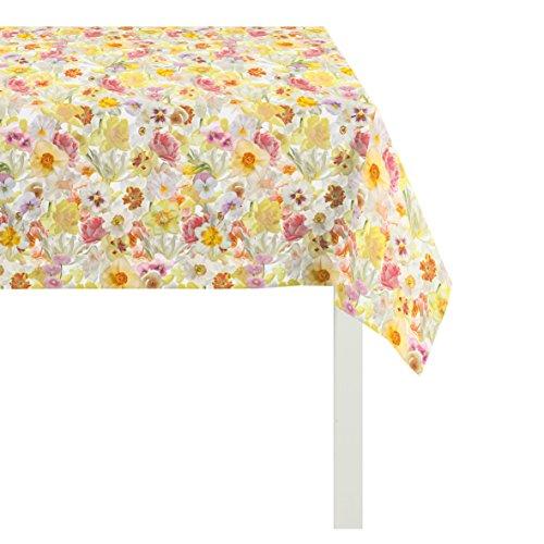 APELT Tischdecke, Polyester-Baumwolle, Gelb/bunt, 100 x 100 x 0.5 cm