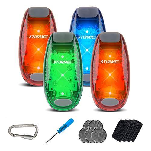 LED Safety Light 4 Pack Strobe Lights Waterproof Reflective Light Flashing Running Lights Clip on Flashing Light for Runners/Walking/Dog/Bike