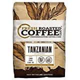 Fresh Roasted Coffee LLC, Tanzanian Peaberry Coffee, Light Roast, Whole Bean, 5 Pound Bag