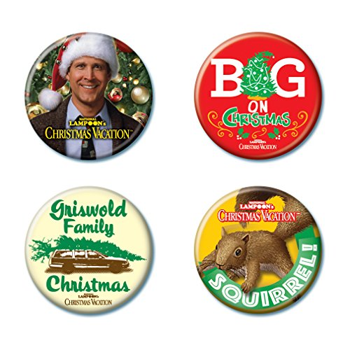 Ata-Boy National Lampoon's Christmas Vacation Assortment #1 Set of 4 1.25' Collectible Buttons