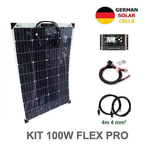 VIASOLAR 100W 12V Solaranlage Flex PRO flexibel Solarmodul