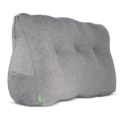 DYNMC you Rückenkissen Bett & Sofa Oeko TEX Qualität - Keilkissen Bett als Rückenstützkissen - Großes Kissen im Bett als Rückenlehne, Wandkissen & als Lesekissen - Bett Kopfteil Gepolstert