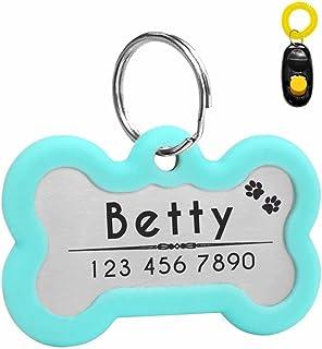 Etiquetas de identificación para perro Didog personalizadas con grabado brillante intermitente, silenciador oscuro para pr...