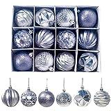 LEER 12 bolas para decoración de árboles de Navidad de 6 cm Buble Xmas Party para colgar bolas de Navidad para decoración navideña en casa