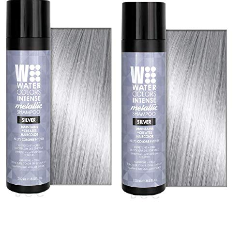 2 Pack Watercolors Intense Shampoo Metallic Silver 8.25 Ounce