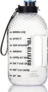 Bottled Joy Half Gallon Water Bottle, BPA Free 75oz Large Water Bottle Hydration with Motivational Time Mark Leak-Proof Dr...