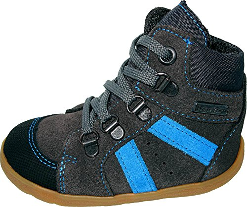 Däumling Lauflernschuhe, Kleinkinder Schuhe, Babyschuhe, Lederschuhe, grau, mittel 21