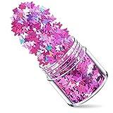 LFYOU Lentejuelas de purpurina en forma de mariposa gruesa con purpurina láser ultrafinas para decoración de maquillaje del festival