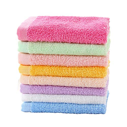 Luxury Bamboo Washcloth Towel Set 16 Pack for Children Baby Bathroom-Hotel-Spa-Kitchen Multi-Purpose Fingertip Towels & Face Cloths 10