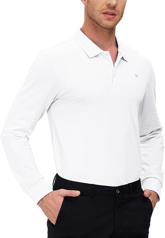 MoFiz Men's Golf Shirt Long Polo Po Sleeve Classic-fit Tampa Mall Ranking TOP15