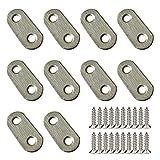 10 piezas de placas de unión 37 por 16 mm, placas de refuerzo de acero inoxidable placas de reparación pletinas, con tornillos