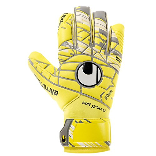 uhlsport Herren ELM Unlimited Soft HN COMP Torwart-Handschuhe, LITE Fluo gelb/Griffin gr, 9.0