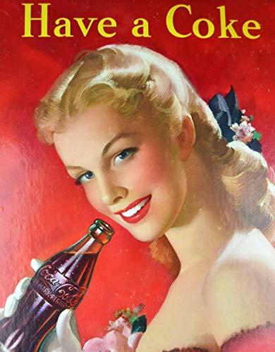 MiMiTee Coca-Cola Cartel De Chapa Placa Metal Vintage Arte Pared Pintura Hierro Decoración Hogareña Artesanía Café Bar Almacenar Yarda Regalo
