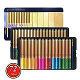 72 colori Aqua Relle Matite colorate Acquarello Matita professionale for libri da colorare Art School Sullpies matite colorate
