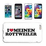 Reifen-Markt Funda para Samsung Galaxy S3 Mini, diseño de perro con texto 'I Love Meinen Rottweiler