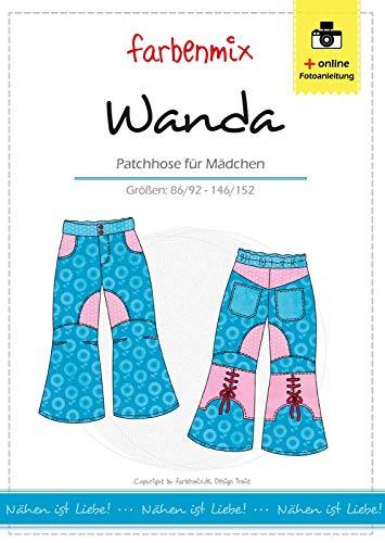 Wanda Farbenmix Schnittmuster (Papierschnittmuster für die Größen 86/92 - 146/152), Hose