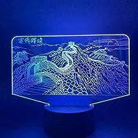 giyiohok 3Dミステリアスアニマルディアヘッドランプ7色RCランプカラーチェンジデスクナイトランプランパラチコ寝室の装飾用-B30-B30