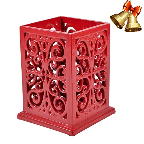 Kitchen Utensil Holder Cooking Utensil Organizer Vintage Decorative Cast Iron Utensil Holder Perfect Gift for Cooking-Red Color