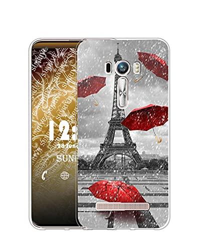 Sunrive Funda Compatible con ASUS Zenfone Selfie ZD551KL, Silicona Slim Fit Gel...