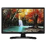 LG 24MT49VF-PZ.API 24' HD Ready Computer Monitor TV LED Display, 250 cd/m², 1366 x 768 pixels, Certificato tivùsat, Nero