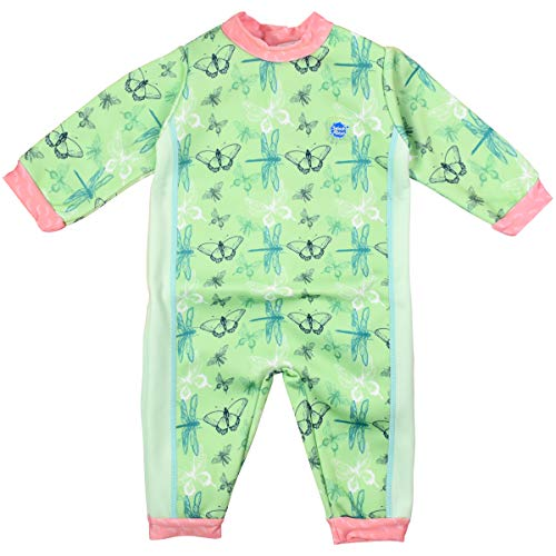 Splash About Kids' Warm in One Wetsuit,Green(Dragonfly),6-12 Months(Manufacture Size:L)