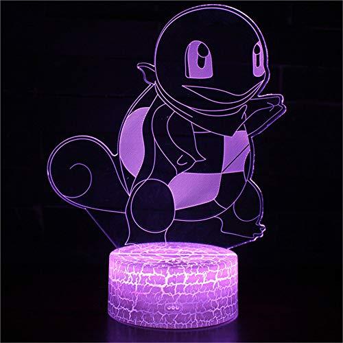 Sproud Teenage Mutant Ninja Turtles Touch Schalter Tasche Monster 3D Licht Led Tischlampe Illusion Nachtlicht 7 Farbwechsel 3Aa Batteriebetriebene Usb Lampe-In Led Tischlampen