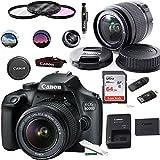 EOS 4000D Digital Camera with EF-S 18-55MM F/3.5-5.6 III Lens + Basic Accessories Bundle (International Version)