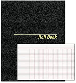 National 43523 Roll Call Book 9-1/2 x 7-7/8 Black 48 Pages