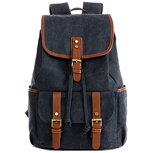 Otwit Large Vintage Canvas Backpack Travel Rucksack Casual Daypack Bookbag OBB01