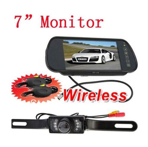 BW Caméra de voiture à rétro-vision avec vision nocturne écran LCD TFT 7\