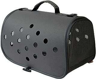 One-Shoulder Pet Carrier Box Portable Outdoor Pet Bag Good Breathable Comfort Multi-Color Optional CQOZ (Color : Black)