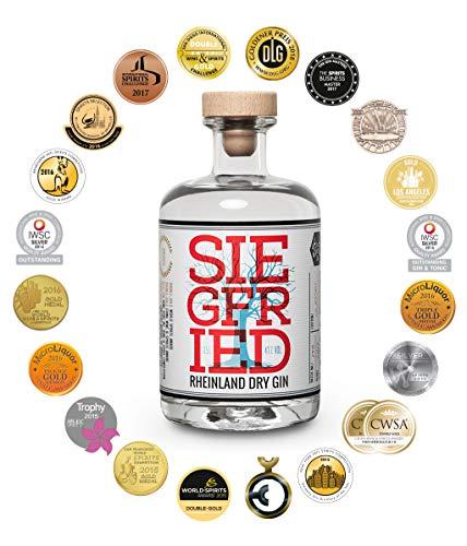 Siegfried Rheinland Dry Gin   Weltweit ausgezeichneter Premium Gin   Micro-batch Gin mit 18 Botanicals   Regionalität und Weltklasse   41% 500ML - 5