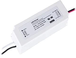 (UL LISTED) 24V LED Driver Dimmable 75W (Not for 12V LED Light) IP67 Waterproof LED Power Supply Constant Voltage 24VDC 3.2A Power Supply, 120V Dimmable Transformer Work with AC Dimmer Adapter