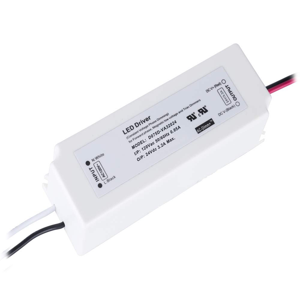 CATIYA 24V 120W LED Driver Phase Dimming for Forward Phase ETL Listed Class 2 Unit Constant Voltage Transformer Magnetic Low Voltage and Triac Dimmers
