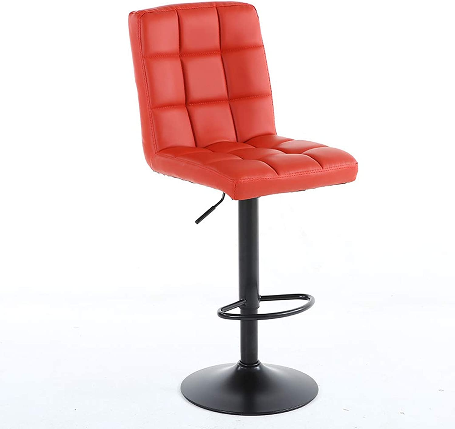 HBJP Iron Lift Chair bar Chair Simple high Stool Front Desk Cashier Bench, 40 (63  83cm), Three colors Optional bar Chair (color   Red)