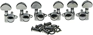 Wilkinson 3x3 ROTO Style Full Size Sealed Guitar Tuners Tuning Keys Pegs Guitar Machine Heads Fits Gibson or Acoustic Guit...