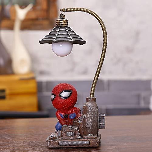 Lámpara de noche Spider Man, forma de dibujos animados, luz de noche LED para regalo creativo de Boy Kids.