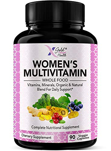Vegan Women's Daily Multivitamin 50 Plus with Organic WholeFood Based Natural Ingredients, Ginger, Maca, Multi-Vitamin B Complex & More - Menopause & Energy Support, Immune System Booster -90 Capsules