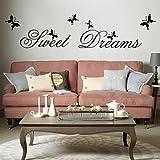 Dulces sueños DIY del arte del vinilo removible etiqueta de la pared Decal Cita casero mural de habitaciones d ¨   cor