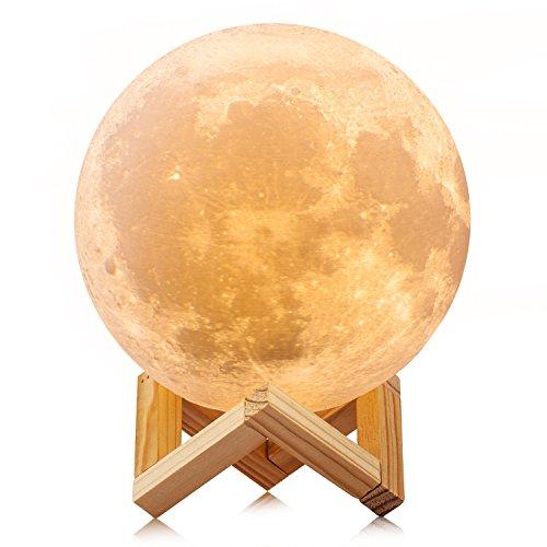 RMFSH Moon Lamp 4.8inch 3Colors Moon Lamp for Bedrooms Moon Light Kids Night Light Moon Night Light 3D Printed Moon Lamp Galaxy Lamp Lava lamp Luna Lamp Personalized Moon Lamp
