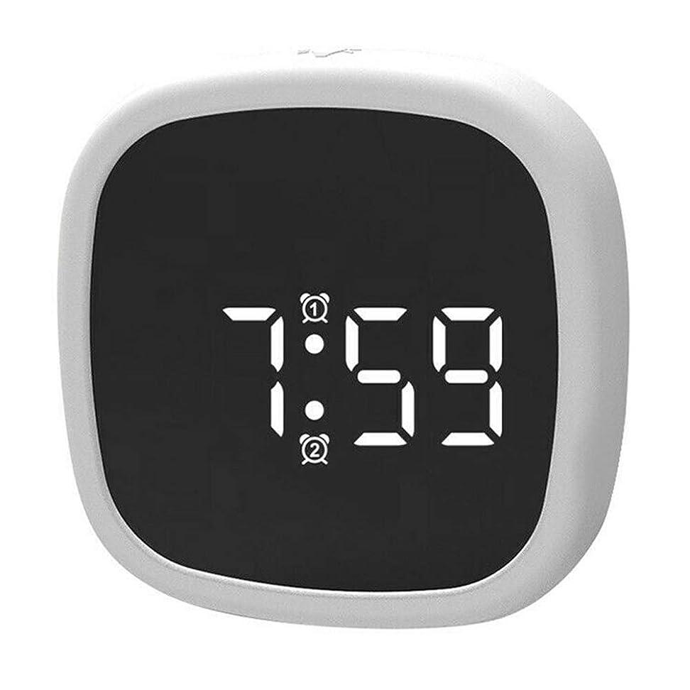 過剰因子パンツJuSopデジタル目覚まし時計LEDディスプレイシリコーン音声起動デスククロック4つの明るさモード