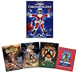 National Lampoon's Christmas Vacation + 3 Bonus National Lampoon Movies (Vacation / European Vacation / Vegas Vacation) + Bonus Elf: Short Story of a Tall Tale [DVD + Book]