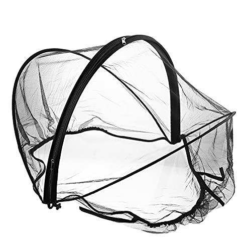 STOBOK Mosquitero de cochecito de bebé negro transpirable malla de insectos mosquiteros para cubierta de asiento de coche de bebé cuna