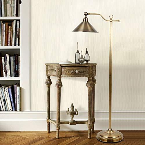 Allamp Led cabecera vertical del piso de la lámpara de la lámpara de lectura Living luminoso de la vendimia de cobre europea creativa de lujo Bombillas LED E27 Metal Hierro Utilizado en sala de estar,